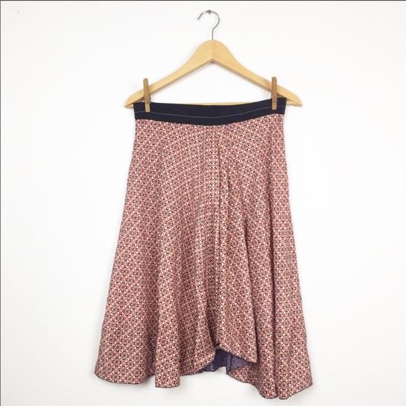 Anthropologie Dresses & Skirts - ANTHROPOLOGIE 100%SILK ROZAE NICHOLS Pattern Skirt